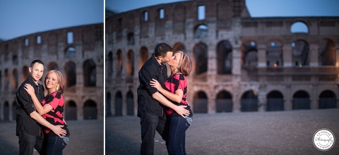 Europe Engagement Portrait Photographer Lyndsay Curtis photographs engaged couple Brian and Amy in Rome, Italy | www.LyndsayCurtis.com
